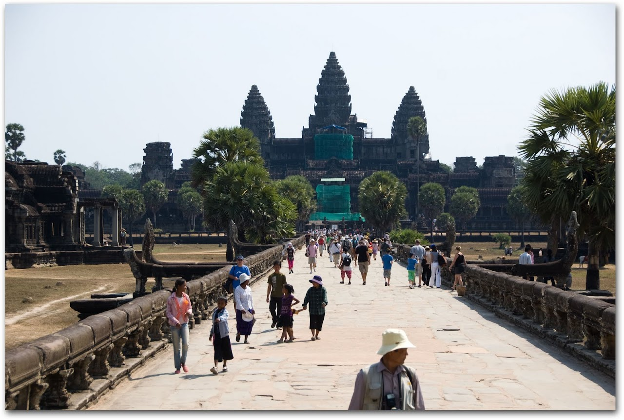Tourists at Angkor Wat