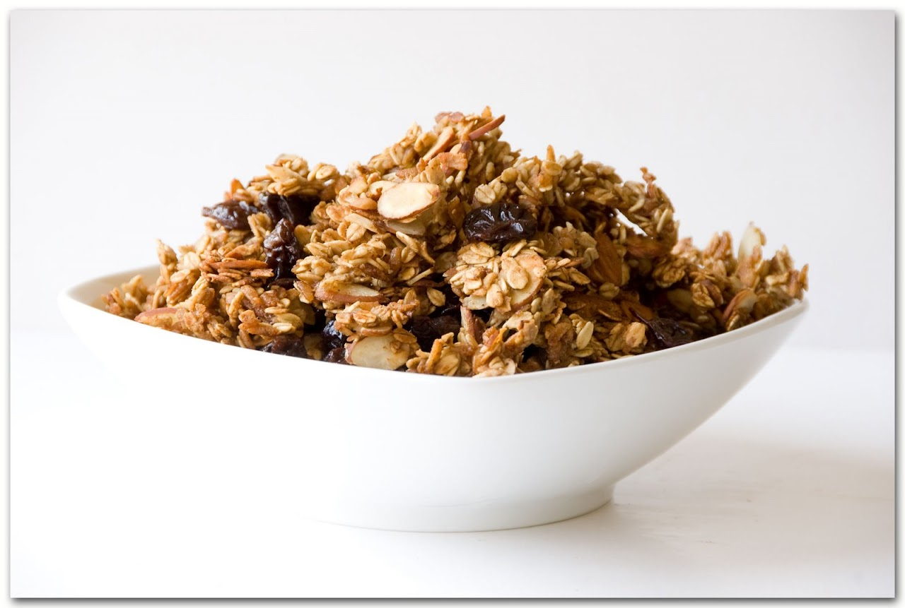 Cherry Amaretto Granola The Road Forks Travel And Food Blog