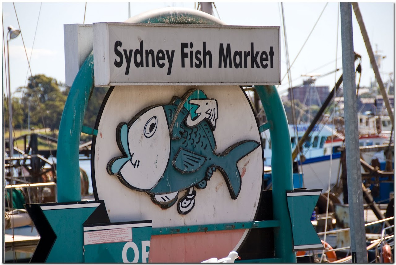 Sydney Fish Market sign