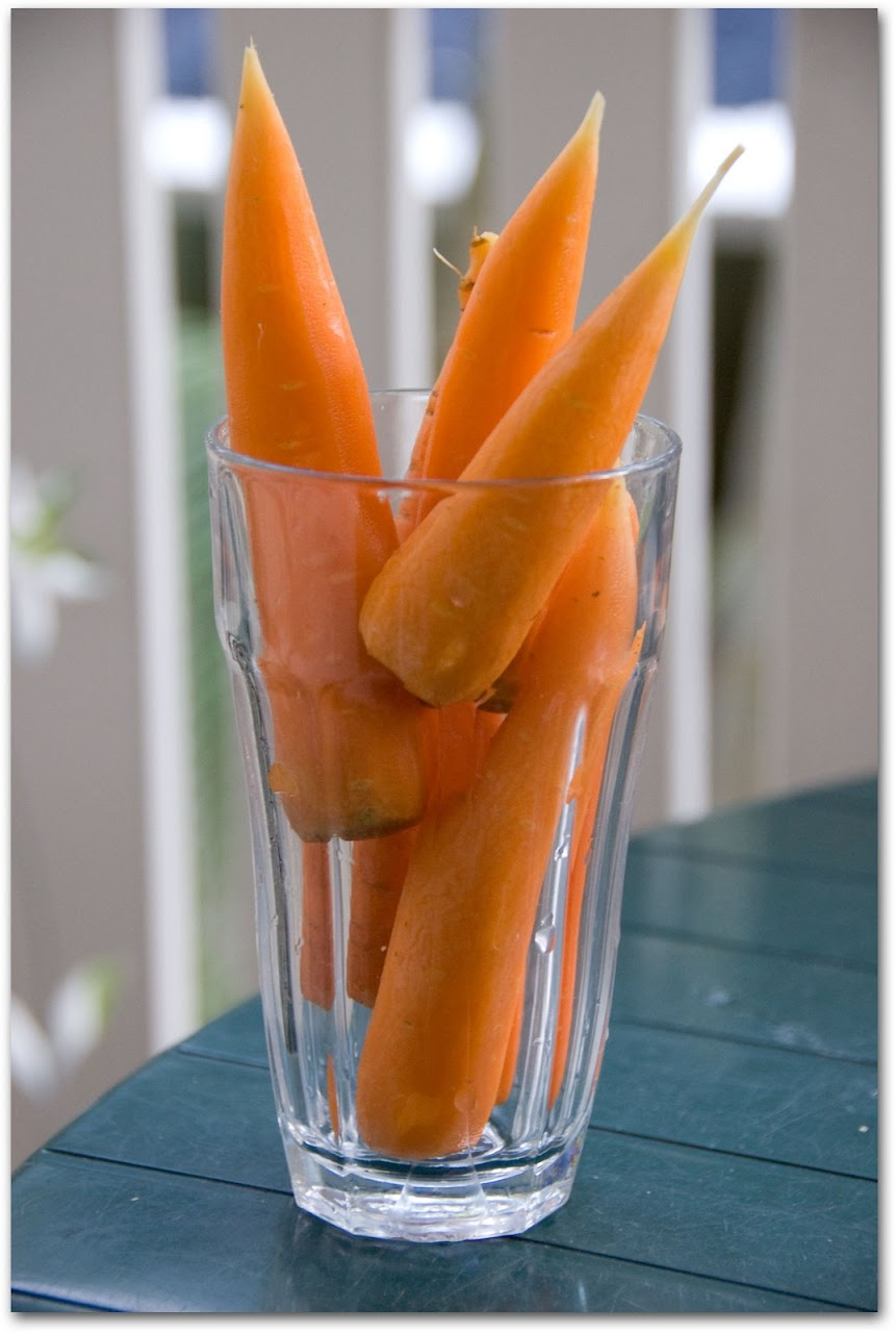 Carrots in a glass