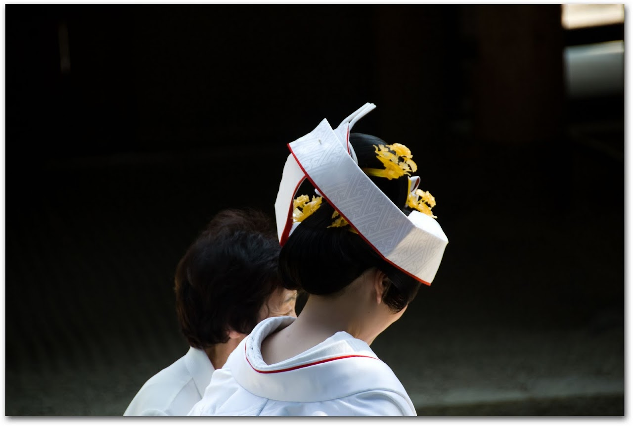 Bride at Kasuga Shrine, Nara