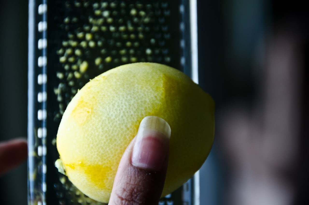 Zesting meyer lemon