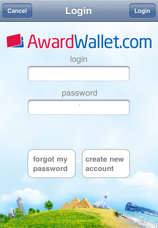 Award Wallet mobile
