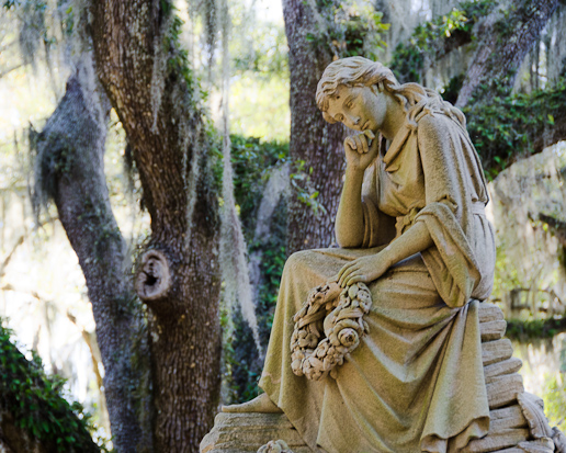 Girl in Bonaventure Cemetery