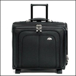 Side Loader Black Mobile Office Wheeled Suitcase