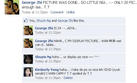 Facebook  George Zhi's status