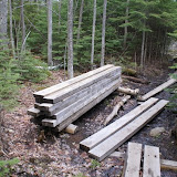 extra lumber for trail maitenance