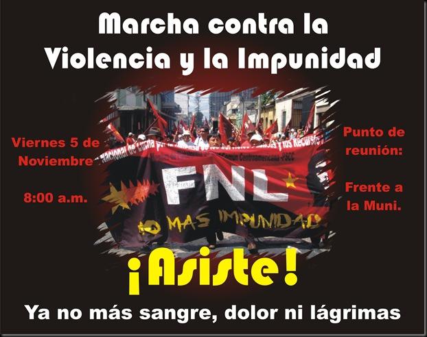Afiche marcha violencia e impunidad