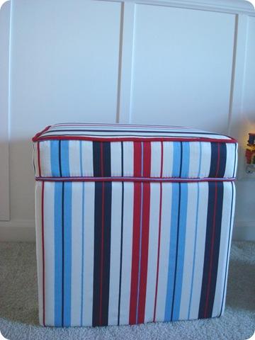 striped ottoman