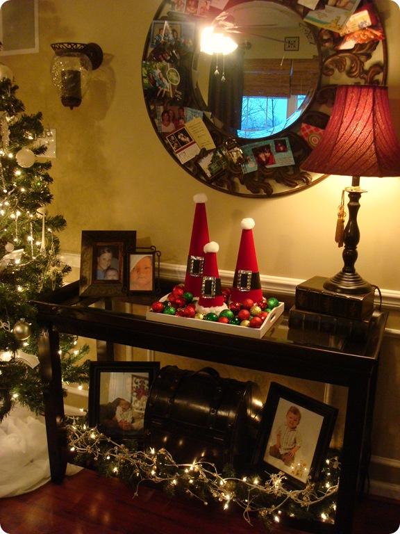 Santa hats in tray