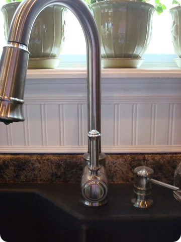 a beadboard backsplash