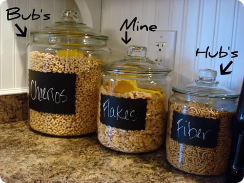 cereal jars