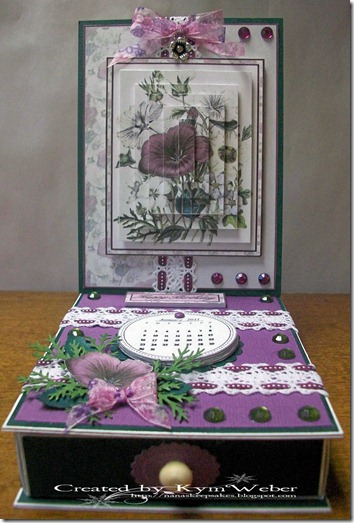 Hibiscus and Floral Drawer Easel Card1
