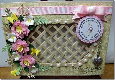 Mother's Day card with Lattice