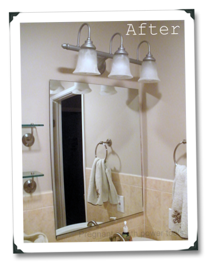 Pregnant With Power Tools Bathroom Light Remodel