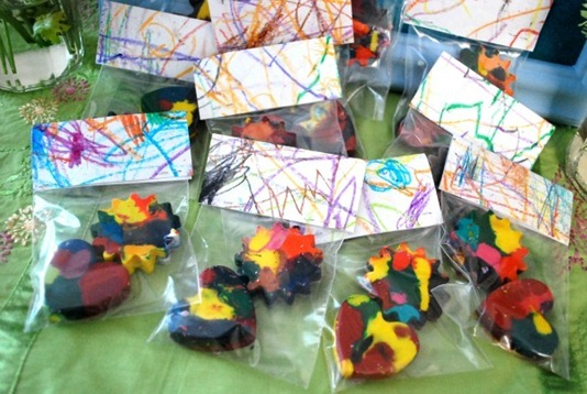 molded crayons party favors