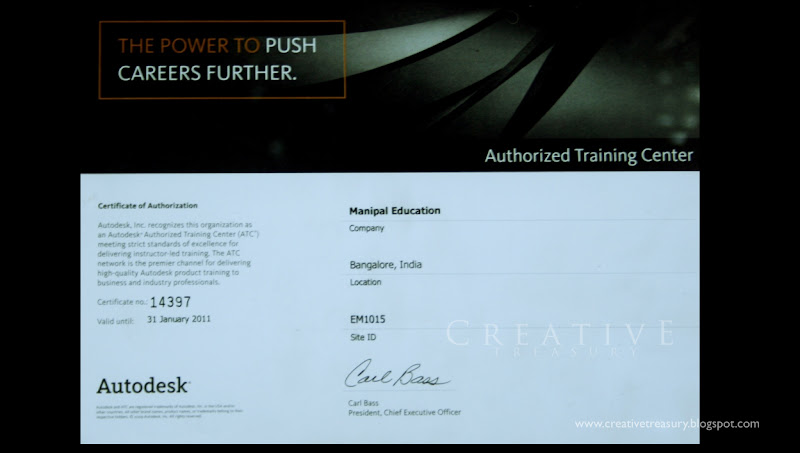 AutoDesk Training Certificate