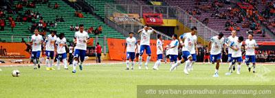 Pemanasan Persija vs Persib 2009/2010