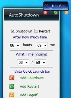 Vista AutoShutdown Gadget