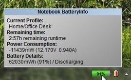 Notebook BatteryInfo