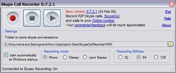 Free Skype Call Recorder
