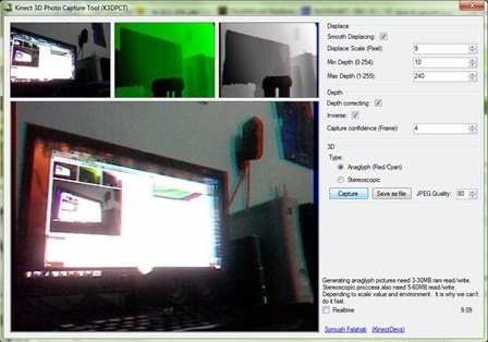 Kinect 3D Photo Capture Tool