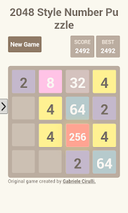 2048 Style Number Puzzle Game - screenshot