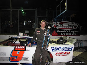 Brandon Watson wins at Peterborough Speedway, October 10, 2010