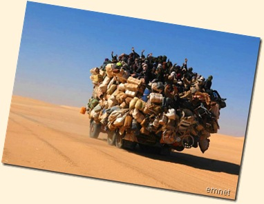crossing  desert  of libya