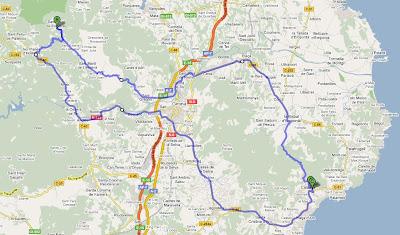 Mapa de la ruta amb Google maps