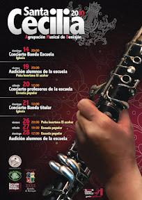 Cartel Santa Cecilia 2010