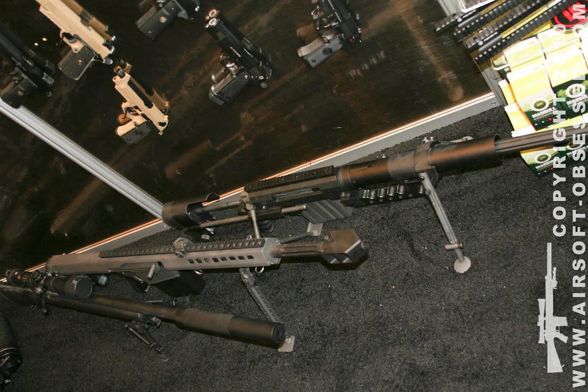 Airsoft Guns, Shot Show 2011 Coverage, Las Vegas, Jag Precision, SOCOM Gear Cheytac M200 Intervention Airsoft Sniper Rifle, SOCOM Gear Barrett M82A1 CQB, Echo1 M28 M24 Airsoft Sniper Rifle, Gas-powered Airsoft sniper rifle,Airsoft sniper rifle, gas sniper rifle,m200, M82A1 CQB, 50 Cal BMG, .408 cal round,Pyramyd Air, Pyramyd Airsoft Blog, Airsoft Obsessed, Airsoft Blog,