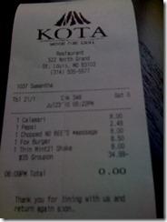 kota receipt