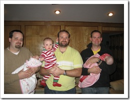 Uncle Chris, Baby Faith, Reid, Jer, James & Carly, Dec. 2009