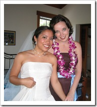 Before Bev & David's wedding, Oct. 1, 2005