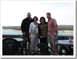 Jer, Jenny, Holly & Jeff at Lake Travis