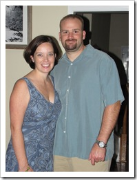 momma & daddy before date night, 7-10-09