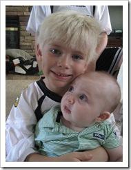 Big Cousin Sammy and Baby Reid, 9-4-09