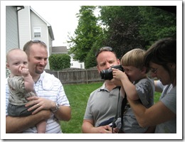 Declan takes a photo of Jer and Reid, 9-6-09