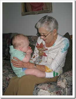 Reid and Gramma checking each other out. 9-11-09