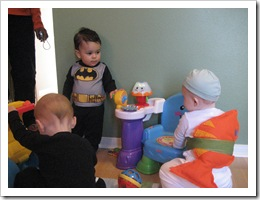 Batman Wyatt is checking Reid out.