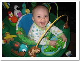 Reid happily playing in his cube 10-29-09