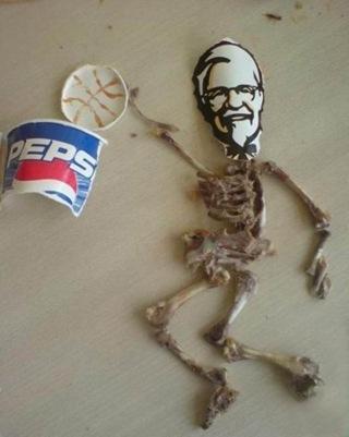 KFC Bone Art