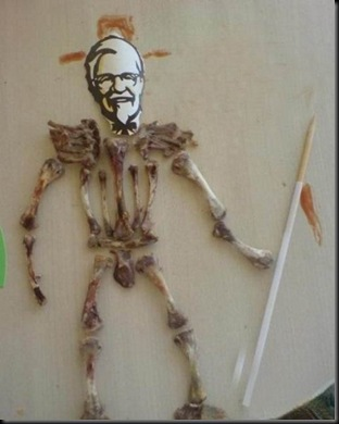 kfc bone skeleton