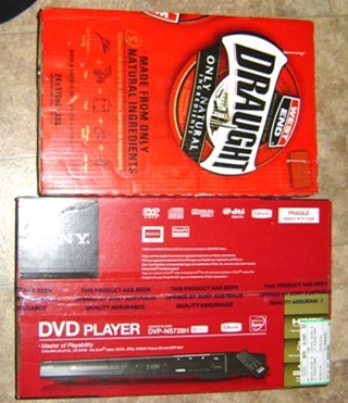 West end draught and dvd player