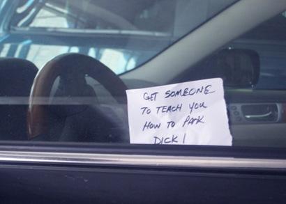 car park note