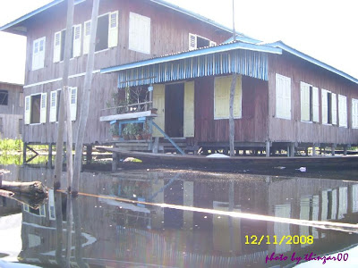 Inle house built on stilts
