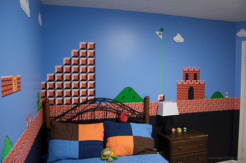 Super mario brothers world 1 1 bedroom