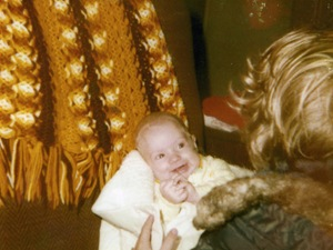 Jared, two months old with sister April