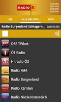 Screenshot of ORF Radio Burgenland